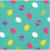 Foil Easter Eggs Beverage Napkins 192 ct