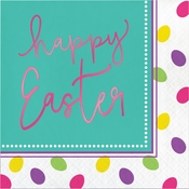 Foil Easter Eggs Luncheon Napkins 192 ct