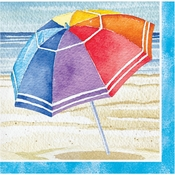 Beach Umbrellas Beverage Napkins 192 ct