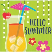 Summer Drinks Hello Summer Beverage Napkins 192 ct