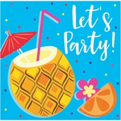 Summer Drinks Lets Party Beverage Napkins 192 ct