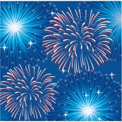 Fireworks & Flags Beverage Napkins 192 ct