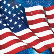 Fireworks & Flags Luncheon Napkins 192 ct
