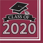 Class of 2020 Burgundy Graduation Luncheon Napkins 360 ct