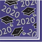 Class of 2020 Purple Graduation Beverage Napkins 360 ct