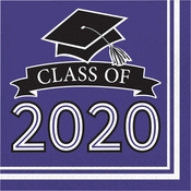 Class of 2020 Purple Graduation Luncheon Napkins 360 ct