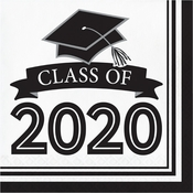 Class of 2020 White Graduation Luncheon Napkins 360 ct