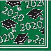 Class of 2020 Green Graduation Beverage Napkins 360 ct