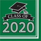 Class of 2020 Green Graduation Luncheon Napkins 360 ct
