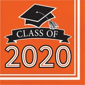 Class of 2020 Orange Graduation Luncheon Napkins 360 ct