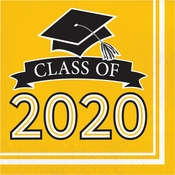 Class of 2020 Yellow Graduation Luncheon Napkins 360 ct