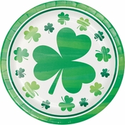 Irish Shamrocks Dessert Plates 96 ct