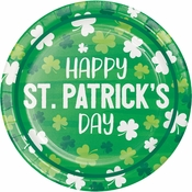 Irish Shamrocks Happy St Patricks Day Dessert Plates 96 ct