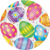 Colorful Easter Eggs Dessert Plates 96 ct
