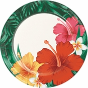 Tropical Flowers Dessert Plates 96 ct