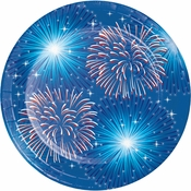 Fireworks & Flags Dessert Plates 96 ct