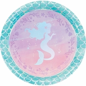 Iridescent Mermaid Party Dinner Plates 96 ct