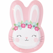 Bunny Party Shaped Dinner Plates 96 ct