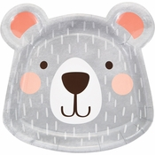 Bear Party Shaped Dinner Plates 96 ct