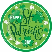 Happy St. Patricks Day Dinner Plates 96 ct
