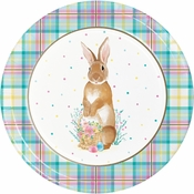Easter Plaid Dinner Plates 96 ct