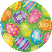Colorful Easter Eggs Dinner Plates 96 ct