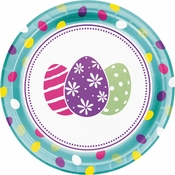 Foil Easter Eggs Dinner Plates 96 ct