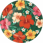 Tropical Flowers Dinner Plates 96 ct