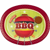 Barbeque Oval Plates 96 ct