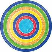 Colorful Summer Dinner Plates 96 ct