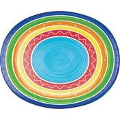Colorful Summer Oval Plates 96 ct