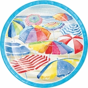 Beach Umbrellas Dinner Plates 96 ct