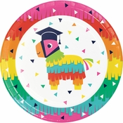 Fiesta Fun Grad Dinner Plates 96 ct