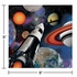 Black and blue Space Blast Beverage Napkins are sold in quantities of 16 / pkg, 12 pkgs / case