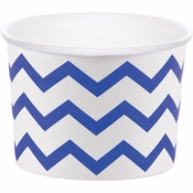 Cobalt Blue Chevron Treat Cups 72 ct