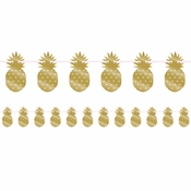 Golden Pineapple Banners 6 ct