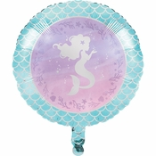 Iridescent Mermaid Party Mylar Balloons 10 ct