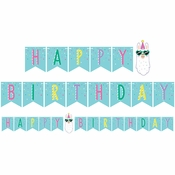 Llama Party Happy Birthday Banners 6 ct