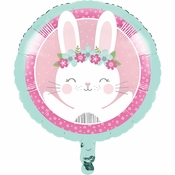 Bunny Party Mylar Balloons 10 ct