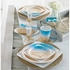Blue and tan Beach Love Luncheon Napkins sold in quantities of 16 / pkg, 12 pkgs / case