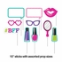 Sparkle Spa Party Photo Booth Props 60 ct