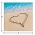 Blue and tan Beach Love Beverage Napkins sold in quantities of 16 / pkg, 12 pkgs / case