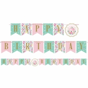 Floral Tea Party Tea Party Banners 12 ct