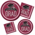 Graduation School Spirit Burgundy Luncheon Plates