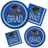 Graduation School Spirit Blue Luncheon Plates