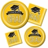 Graduation School Spirit Yellow Luncheon Plates