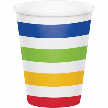 Multicolor Polka Dots and Stripes Paper Cups 96 ct