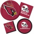Red and black Arizona Cardinals Dessert Plates are sold 8 / pkg, 12 pkgs / case