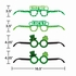 St. Patricks Day Assorted Paper Eyeglasses 24 ct