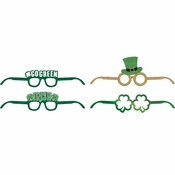 St. Patricks Day Deluxe Paper Eyeglasses 24 ct